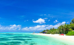 Tropical beach in Maldives Stock Image
