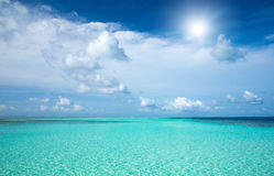 Tropical beach in Maldives Stock Images