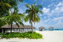 Tropical beach at Maldives Stock Photos