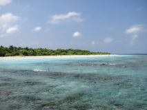 Tropical beach on Maldives Islands Stock Images