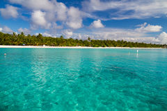 Tropical beach in Maldives, Paradise Island Royalty Free Stock Photography
