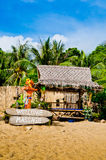 Tropical Beach Massage. Beach massage area in Thailand Stock Photos
