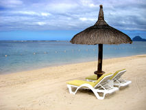 Tropical beach in Mauritius Royalty Free Stock Photo
