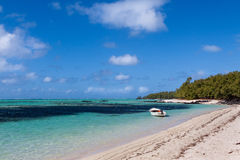 Tropical beach in Mauritius Island, Indian Ocean Stock Image