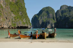 Tropical beach, Maya Bay, THAILAND Stock Photo