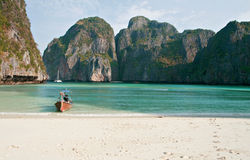 Tropical beach, Maya Bay, Thailand Stock Photography