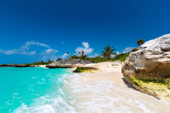 Tropical beach in Mexico Stock Photo