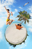 Tropical Beach Microworld Royalty Free Stock Photo