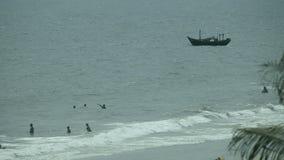 Tropical beach. On the tropical beach, Mui Ne Vietnam, tinted footage stock video