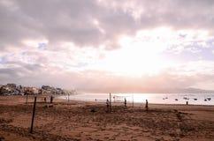 Tropical Beach near the City Royalty Free Stock Photos
