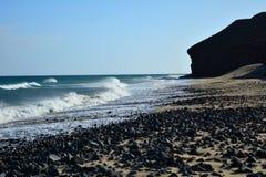 Tropical beach near Costa Calma at Fuerteventura, Canary Island, Spain Stock Photos