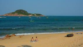 Tropical beach at Nha Trang, Vietnam Stock Photo