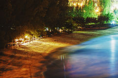Tropical beach at night Stock Images