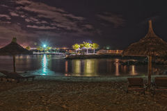 Tropical beach at night - HDR Royalty Free Stock Image