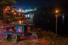 Tropical beach at night time. Long exposure shot. Royalty Free Stock Photo
