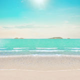 Tropical beach and ocean Stock Photos