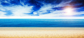 Tropical beach and ocean Royalty Free Stock Images