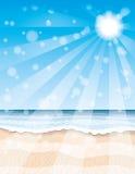 Tropical beach and ocean. Stock Photography