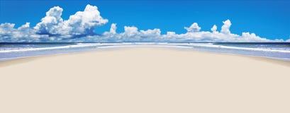 Tropical beach with open space Stock Photos