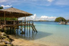 Tropical beach on Palawan Island, Philippines Royalty Free Stock Image