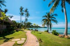 Tropical beach with palms, Kood island, Thailand Summer Season Stock Photography