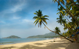 Tropical beach of Palolem Royalty Free Stock Images