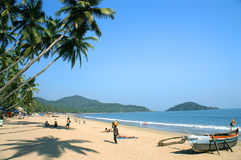 Tropical beach of Palolem. Goa state, India Royalty Free Stock Photography