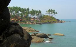 Tropical Beach Of Palolem, Goa, India Royalty Free Stock Images