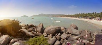 Tropical beach Palolem, Goa, India Royalty Free Stock Photography