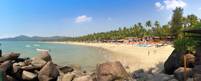 Tropical beach Palolem in Goa, India. Stock Images