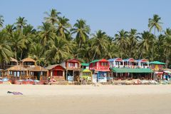 Tropical beach in Palolem, Goa, India Stock Photography