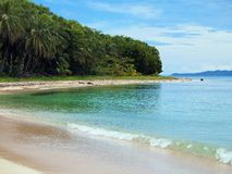 Tropical beach in Panama, Caribbean coast Stock Image