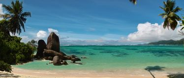 Tropical beach. Panorama . Stock Photos