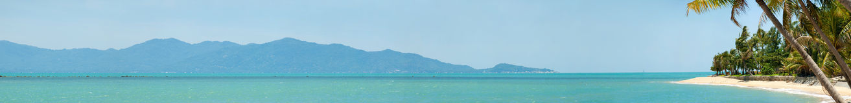 Tropical beach panorama Stock Photos