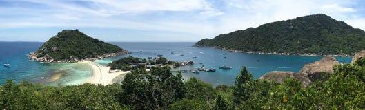 Tropical beach panorama with Nang Yuan Island Viewpoint Royalty Free Stock Image