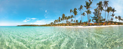 Tropical beach panorama Royalty Free Stock Photography