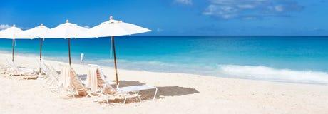 Tropical beach panorama Stock Photography