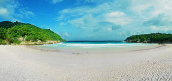 Tropical beach panoramic background Stock Image