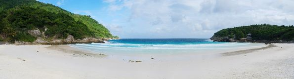 Tropical beach panoramic background in Koh Racha Stock Image