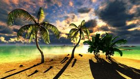 Tropical beach paradise Stock Photo