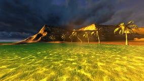 Tropical beach paradise Royalty Free Stock Image