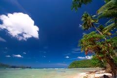 Tropical beach paradise Stock Photos