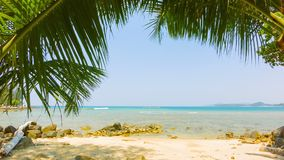 Tropical beach without people. Thailand. Video 1920x1080 - Tropical beach without people. Thailand stock footage