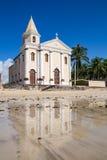 Tropical beach at Pernambuco, Brazil. Church at a tropical beach, Pernambuco, Brazil Stock Photos