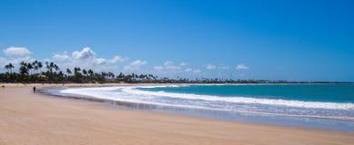 Tropical beach at Pernambuco, Brazil. The tropical beach of Porto de Galinhas, on a summer clear day Stock Photo