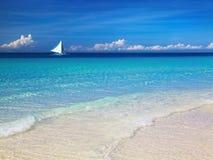 Tropical beach, Philippines. Tropical beach, Boracay island, Philippines Royalty Free Stock Photography