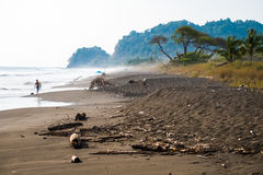 Tropical beach of Playa Hermosa. Near the town of Jaco, Costa Rica Royalty Free Stock Image