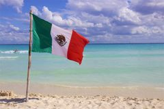 Beach in Playa del Carmen, Mexico. Tropical beach in Playacar and Playa del Carmen, Mexico royalty free stock images