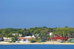 Beach in Playa del Carmen, Mexico. Tropical beach in Playacar and Playa del Carmen, Mexico Royalty Free Stock Image