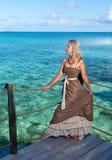 tropical beach. Polynesia. Island Tikehau. Stock Images